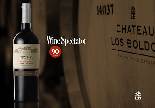 Chateau Los Boldos Cabernet Sauvignon wins 90 points in Wine Spectator!