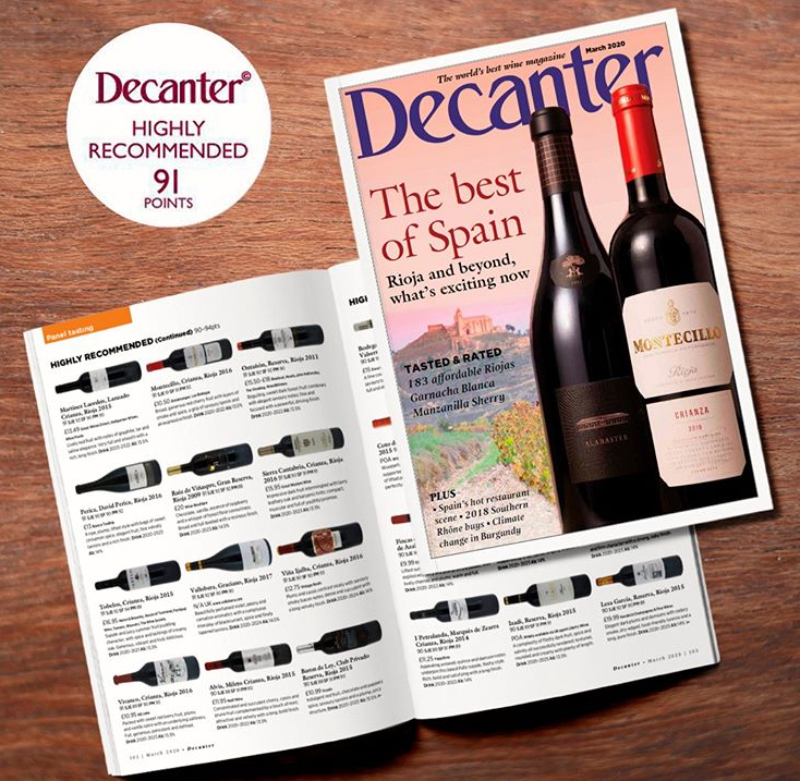 Montecillo Rioja Crianza Lands the Cover!